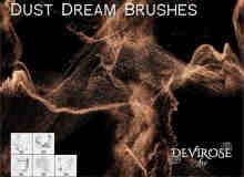 金粉、尘沙、梦幻沙尘Photoshop笔刷素材