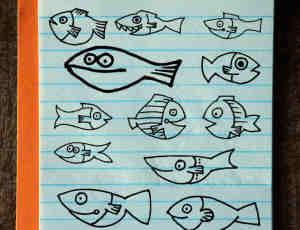 手绘涂鸦小鱼鱼图形、鱼骨头PS童趣笔刷素材