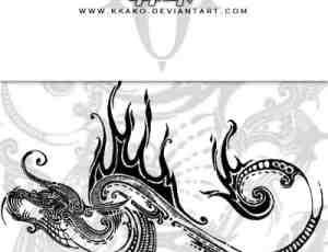 欧式魔幻刺青纹饰图案Photoshop笔刷素材下载