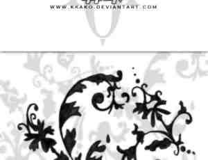 欧式贵族式植物藤蔓花纹图案PS笔刷素材下载
