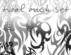 酷炫部落火焰式纹饰刺青图案PS笔刷下载