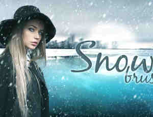 下雪、大雪、雪花、暴风雪、雪景Photoshop天气场景笔刷