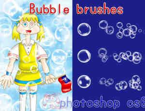 梦幻泡泡、半透明水泡、高光气泡、水泡泡、吹泡泡、泡沫Photoshop笔刷下载