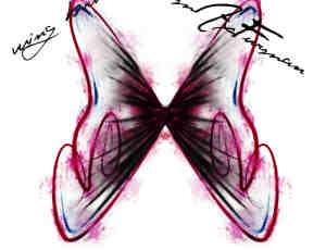 随意涂鸦光影蝴蝶造型PS笔刷素材