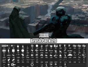 超级数字艺术CG插画笔刷包2.0 PS素材下载