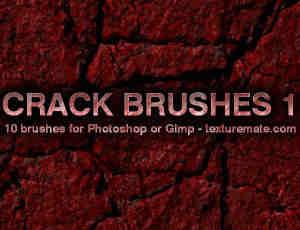 岁月侵蚀的墙面、破旧有裂纹的墙壁纹理PS笔刷纹理笔刷