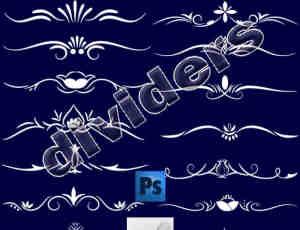漂亮简洁的欧式艺术花纹图案PS笔刷素材