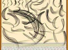 毛发发丝、头发效果PS线条笔刷