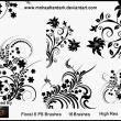 漂亮秀美的植物印花艺术图案Photoshop笔刷素材