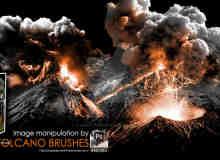 火山喷发、演讲爆发效果PS熔岩笔刷