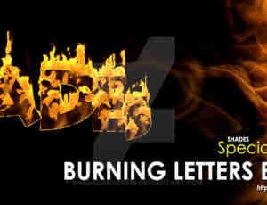 模拟火焰燃烧特效、火烧着火效果Photoshop笔刷素材