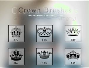 6种皇冠、王冠图形Photoshop笔刷素材