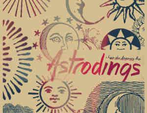 手绘欧式太阳月亮符号图案Photoshop笔刷素材