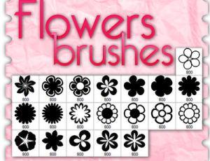 可爱鲜花花朵图案Photoshop花朵笔刷
