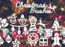 卡哇伊圣诞节涂鸦卡通饰品Photoshop照片美图笔刷