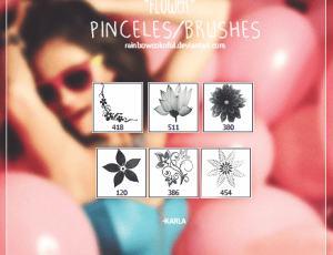 6种花纹图形Photoshop笔刷素材