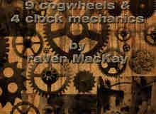 13个各种机械齿轮效果PS笔刷文件素材下载