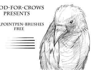 手绘专用细腻的素描笔刷PS素材下载