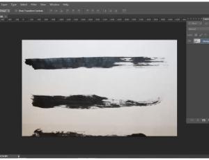 高清自制油漆刷子划痕PS笔刷素材