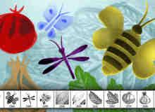 11种涂鸦图形昆虫、绿叶、蔬菜等PS笔刷素材