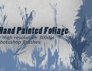 9种高清油漆水墨随意涂鸦痕迹、挥洒泼溅毛笔纹理PS笔刷