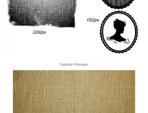 老旧的纹理效果、纱布纹理、女人头像PS高清笔刷素材下载