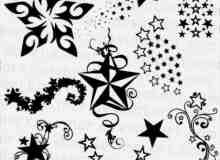 10种五角星、星星图案Photoshop装饰笔刷