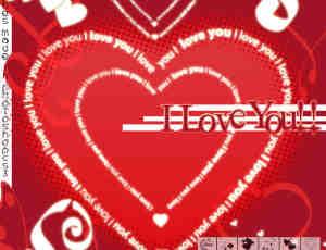 恋爱情人节爱心图案Photoshop爱心笔刷素材
