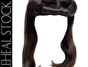 可爱女生长发、秀发PS笔刷素材(PSD格式)已抠像!