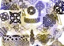 凯尔特编织图案金属饰品PS笔刷素材