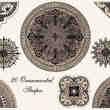 文艺复兴时期的欧式古典花纹艺术图案Photoshop印花笔刷