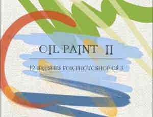 12种油漆画笔Photoshop笔触笔刷