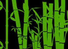 熊猫的竹子、卡通毛竹竹子剪影图形PS笔刷