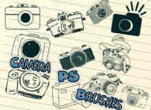 可爱的相机、卡通相机PS美图照片笔刷