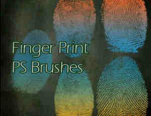 手指指纹、指纹图案、指模Photoshop笔刷素材