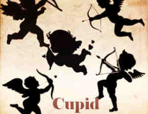 可爱的卡哇伊丘比特之神Photoshop爱情天使笔刷素材