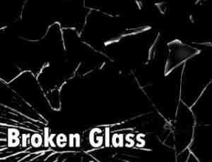 玻璃碎片、玻璃破碎纹理效果Photoshop笔刷素材免费下载