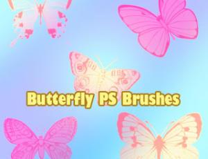 飞舞的蝴蝶图案PS昆虫笔刷