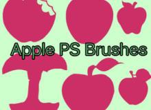 咬过的苹果图形Photoshop笔刷素材