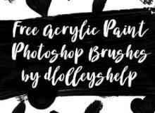 手绘涂鸦爱心、心形图案、刷子涂痕等Photoshop画笔笔刷