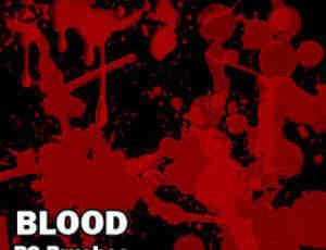 血迹效果、滴血纹理Photoshop笔刷素材下载