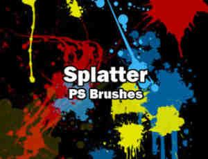 油漆喷溅效果Photoshop喷漆效果素材笔刷