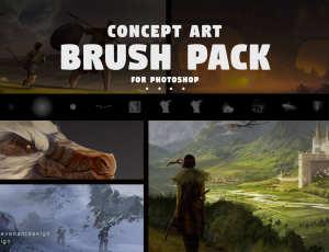 106种数字艺术创作的概念艺术画笔PS笔刷素材