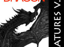 西方恶龙、魔龙造型PS笔刷素材
