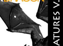 欧美恶龙图形、魔龙恐龙PS笔刷素材