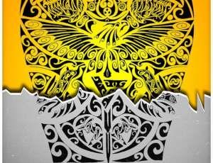 老鹰和老虎图腾图案、部落宗教印记PS神秘图案笔刷