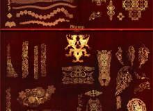 漂亮的图腾印记花纹、神秘的宗教花纹图案PS精美欧式印花笔刷