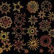 漂亮而又神秘的太阳花纹、太阳图案印记PS笔刷素材