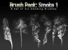 蜡烛、香烟、火柴棍燃烧的烟雾效果Photoshop笔刷素材下载