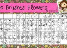 100种漂亮的植物印花图案、贵族花纹Photoshop花纹笔刷